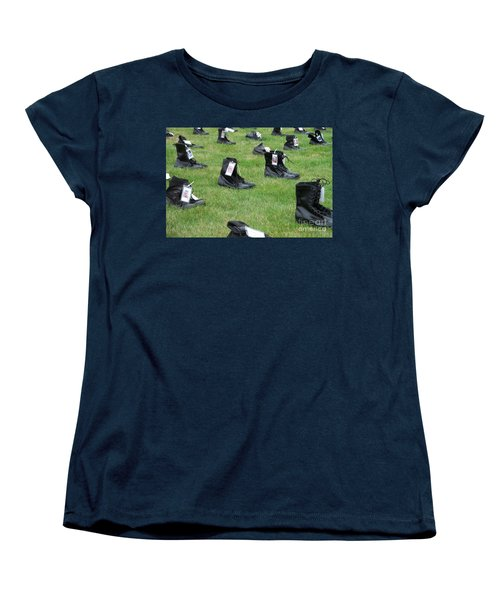 Women's T-Shirt (Standard Cut) featuring the photograph The Cost Of War by Chalet Roome-Rigdon