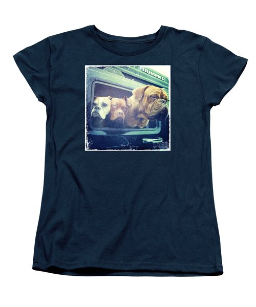 The Dog Taxi Is A Hummer Women's T-Shirt (Standard Cut) by Nina Prommer