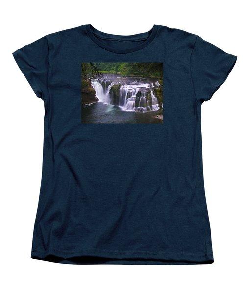 Women's T-Shirt (Standard Cut) featuring the photograph The Falls by David Gleeson
