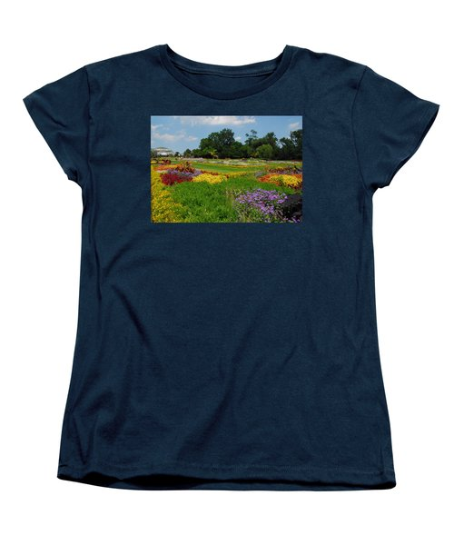 Women's T-Shirt (Standard Cut) featuring the photograph The Gardens Of The Conservatory by Lynn Bauer