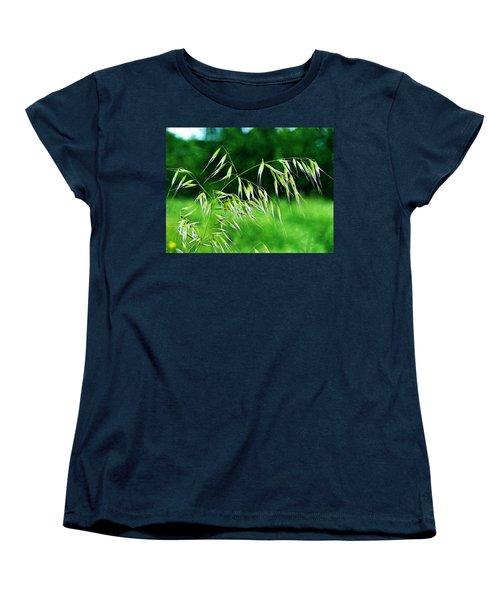 Women's T-Shirt (Standard Cut) featuring the photograph The Grass Seeds by Steve Taylor