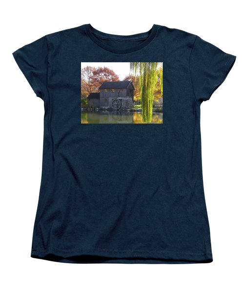 Women's T-Shirt (Standard Cut) featuring the photograph The Millhouse by Julia Wilcox