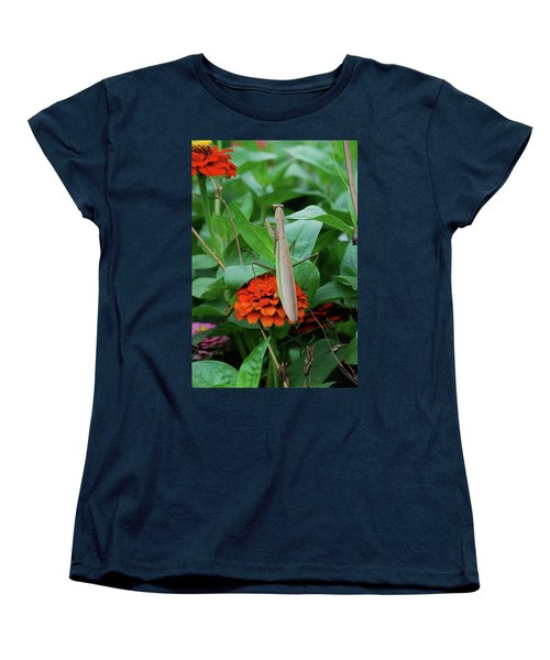 Women's T-Shirt (Standard Cut) featuring the photograph The Patience Of A Mantis by Thomas Woolworth