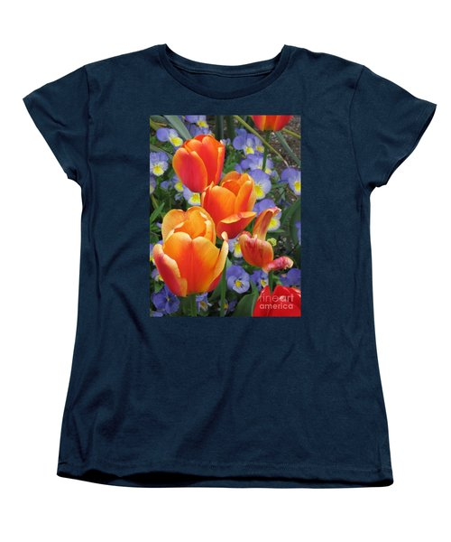 Women's T-Shirt (Standard Cut) featuring the photograph The Secret Life Of Tulips - 2 by Rory Sagner
