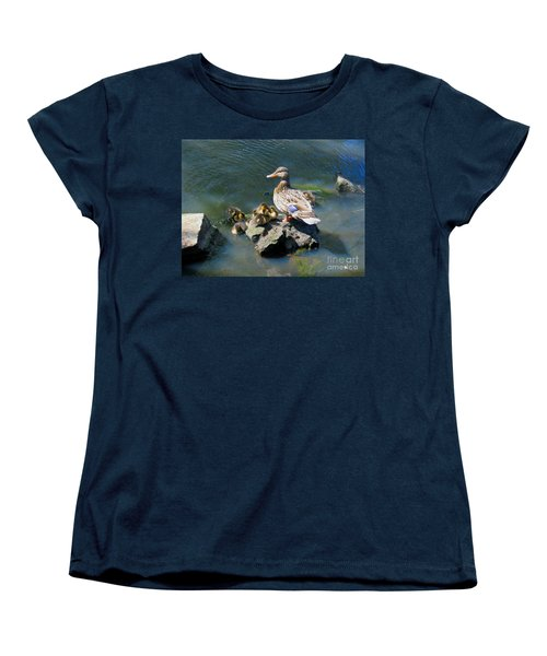 Women's T-Shirt (Standard Cut) featuring the photograph The Swimming Lesson by Rory Sagner
