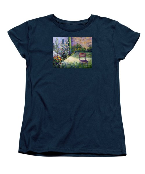 Women's T-Shirt (Standard Cut) featuring the painting The Unseen Guest by Lou Ann Bagnall