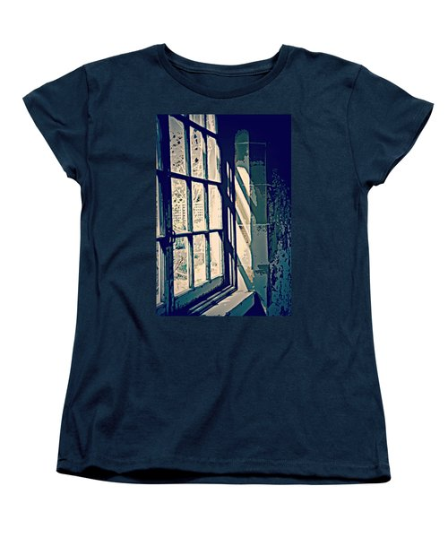 Women's T-Shirt (Standard Cut) featuring the photograph View Through The Window - Painterly Effect by Marilyn Wilson