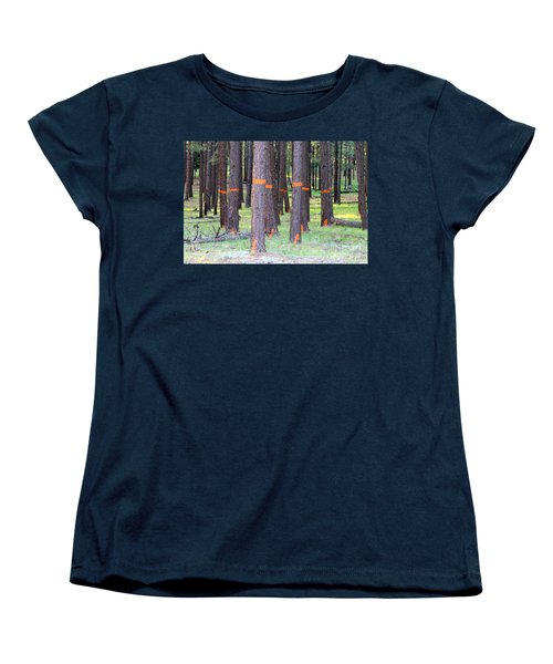 Timber Marking Women's T-Shirt (Standard Cut) by Pamela Walrath