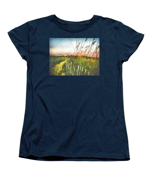 Women's T-Shirt (Standard Cut) featuring the painting To The Sea by Lynne Jenkins
