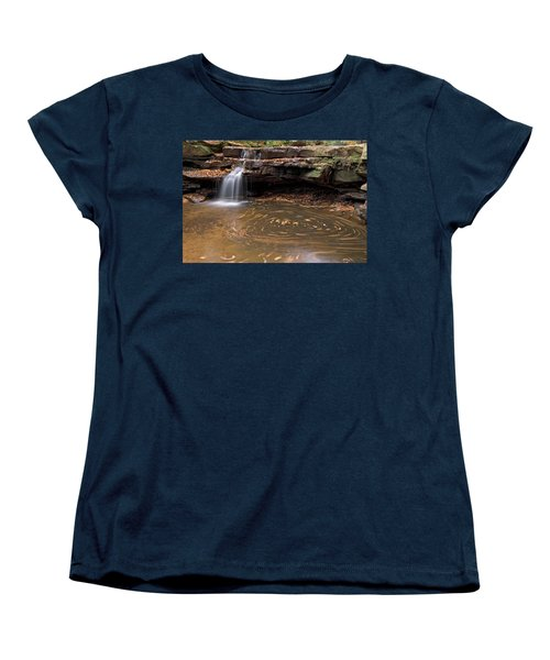 Women's T-Shirt (Standard Cut) featuring the photograph Tolliver Falls by Jeannette Hunt