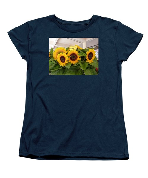 Women's T-Shirt (Standard Cut) featuring the photograph Tournesol by Carla Parris