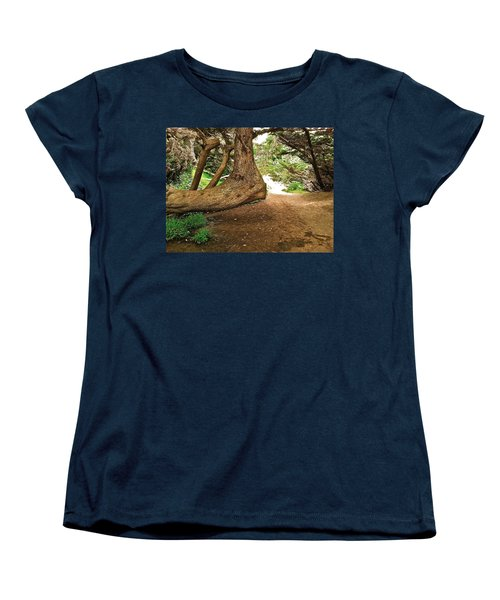 Women's T-Shirt (Standard Cut) featuring the photograph Tree And Trail by Bill Owen