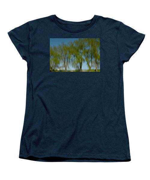 Tree Line Reflections Women's T-Shirt (Standard Cut) by Colleen Coccia