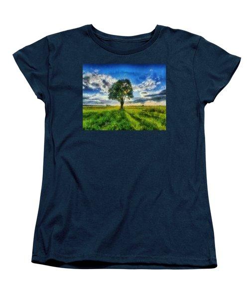 Women's T-Shirt (Standard Cut) featuring the painting Tree Of Life by Joe Misrasi