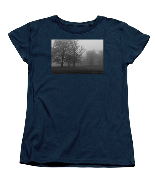 Women's T-Shirt (Standard Cut) featuring the photograph Trees And Fog by Maj Seda