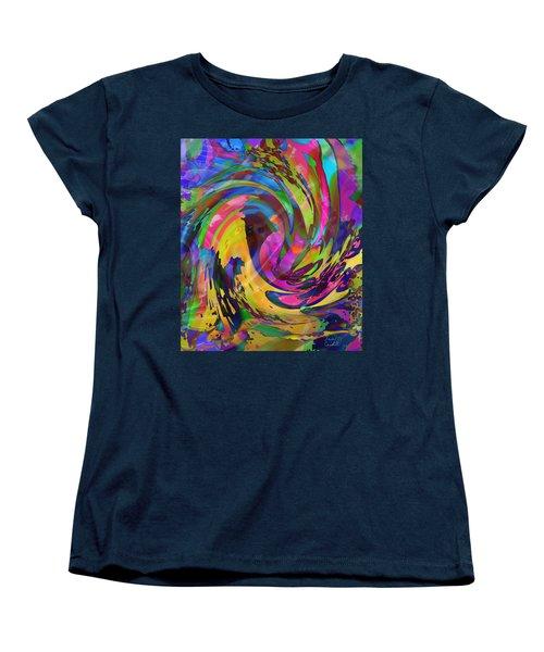Women's T-Shirt (Standard Cut) featuring the mixed media Tsunami by Kevin Caudill