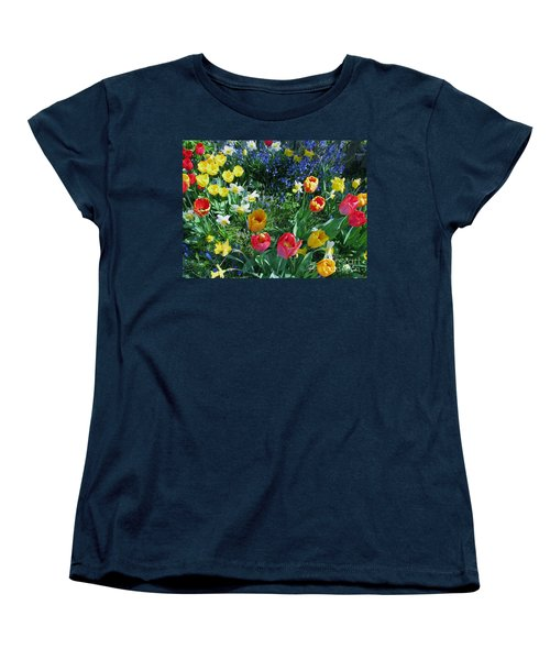 Women's T-Shirt (Standard Cut) featuring the photograph Tulips Dancing by Rory Sagner
