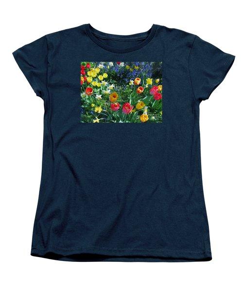 Tulips Dancing Women's T-Shirt (Standard Cut) by Rory Sagner