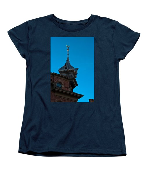 Women's T-Shirt (Standard Cut) featuring the photograph Turret At Tampa Bay Hotel by Ed Gleichman