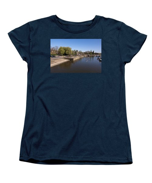 Women's T-Shirt (Standard Cut) featuring the photograph Twickenham On Thames by Maj Seda
