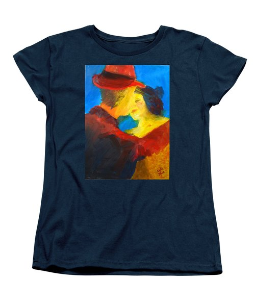 Women's T-Shirt (Standard Cut) featuring the painting Two Am Tango by Keith Thue