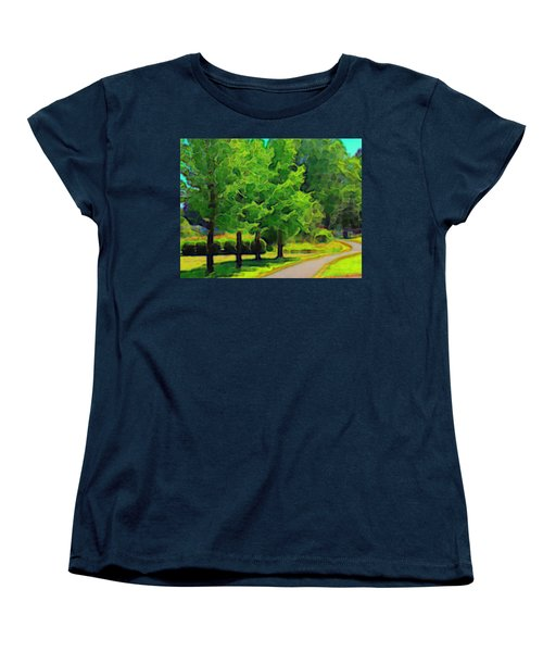 Women's T-Shirt (Standard Cut) featuring the mixed media Van Gogh Trees by Terence Morrissey