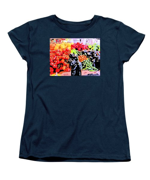 Women's T-Shirt (Standard Cut) featuring the photograph Vegetables On Display by Kym Backland