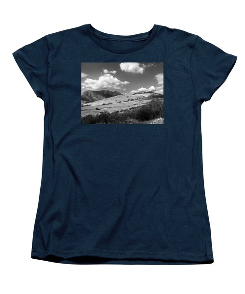 Women's T-Shirt (Standard Cut) featuring the photograph View Into The Mountains by Kathleen Grace