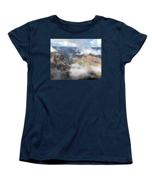 Waimea Canyon Rainbow Women's T-Shirt (Standard Cut) by Rebecca Margraf