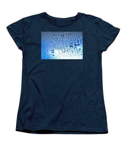 Water Drops On A Shiny Surface Women's T-Shirt (Standard Cut) by Ulrich Schade