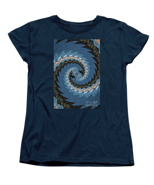 Women's T-Shirt (Standard Cut) featuring the photograph Wave Mosaic. by Clare Bambers