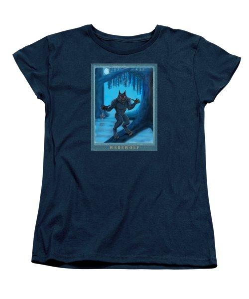 Werewolf Women's T-Shirt (Standard Cut) by Glenn Holbrook