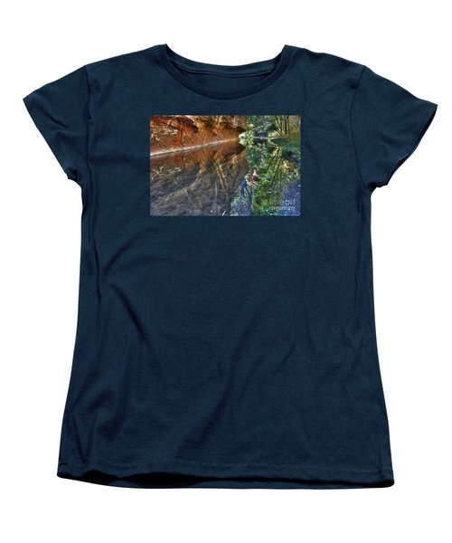 Women's T-Shirt (Standard Cut) featuring the photograph West Fork Reflection by Tam Ryan