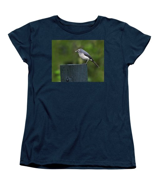 White-eyed Slaty Flycatcher Women's T-Shirt (Standard Cut) by Tony Beck