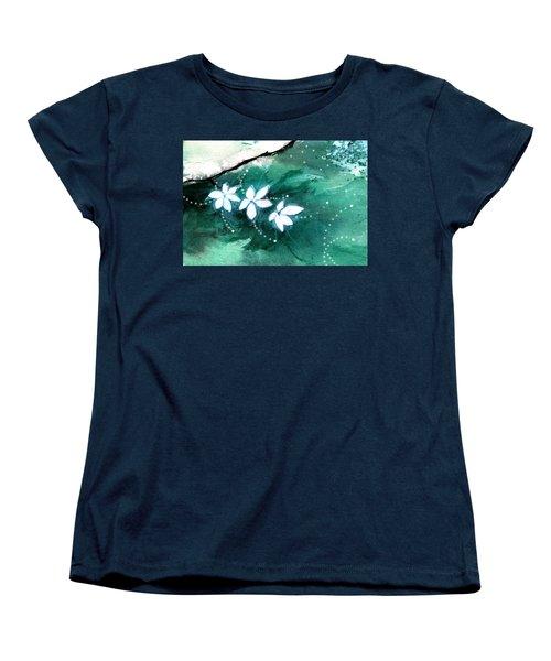 White Flowers Women's T-Shirt (Standard Cut)