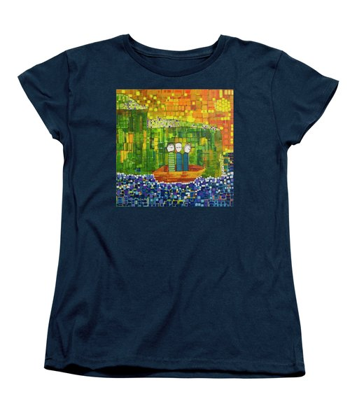 Women's T-Shirt (Standard Cut) featuring the painting Wink Blink And Nod by Donna Howard