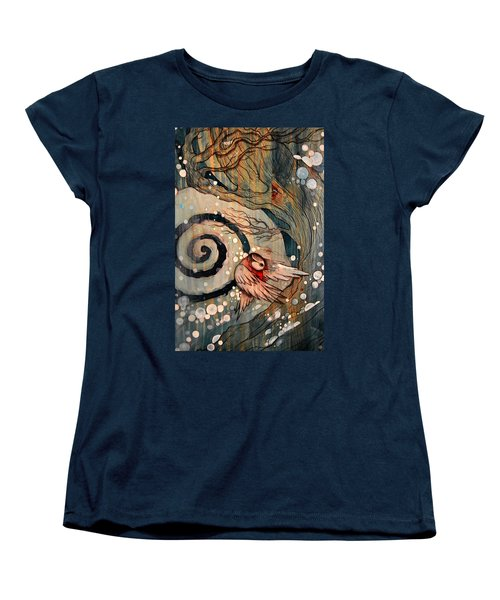 Women's T-Shirt (Standard Cut) featuring the painting Winter Becoming by Sandro Ramani