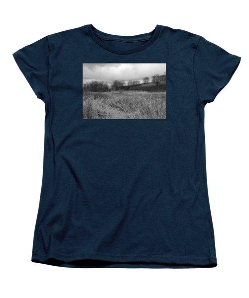 Women's T-Shirt (Standard Cut) featuring the photograph Winters Breeze by Kathleen Grace