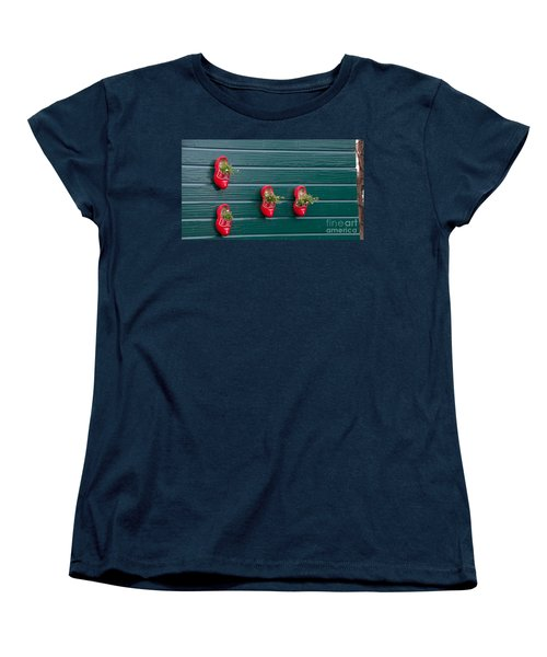 Wooden Shoes On Teh Wall Women's T-Shirt (Standard Cut) by Carol Ailles