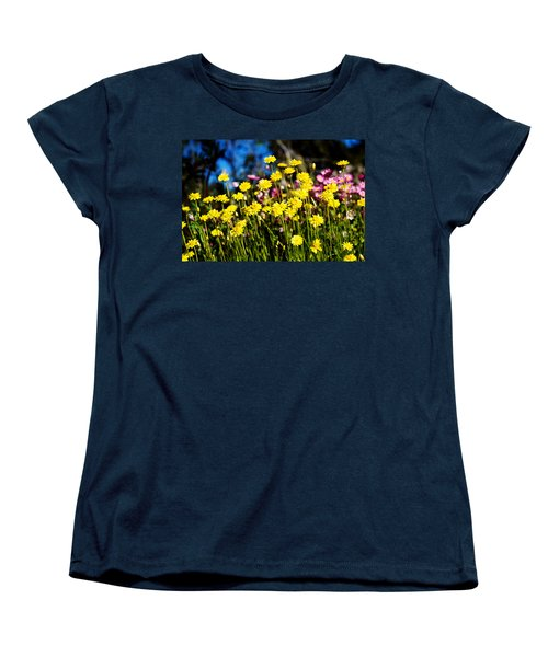 Women's T-Shirt (Standard Cut) featuring the photograph Yellow Flowers by Yew Kwang