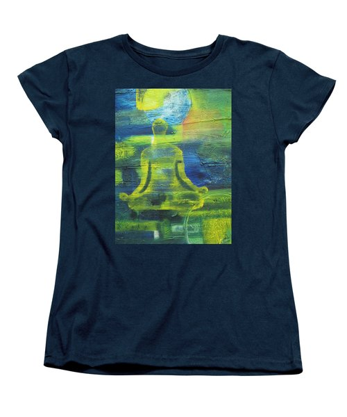 Yoga Textured Canvas Series I Women's T-Shirt (Standard Cut) by Patricia Cleasby