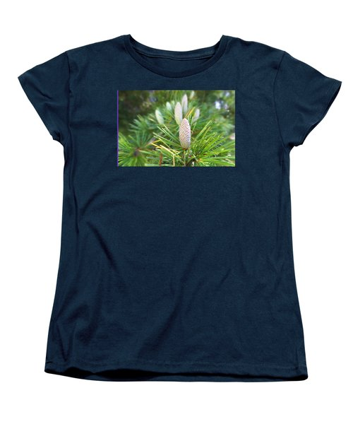 Women's T-Shirt (Standard Cut) featuring the photograph Young Pine Cones by Anne Mott