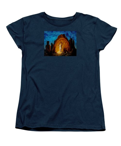 Women's T-Shirt (Standard Cut) featuring the painting . . . They Elected Her To Tell Their Story . . . by Matt Konar
