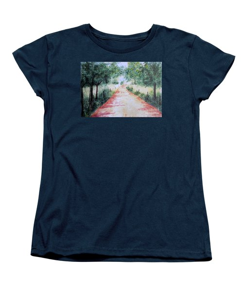 A Country Road Women's T-Shirt (Standard Cut) by Vicki  Housel