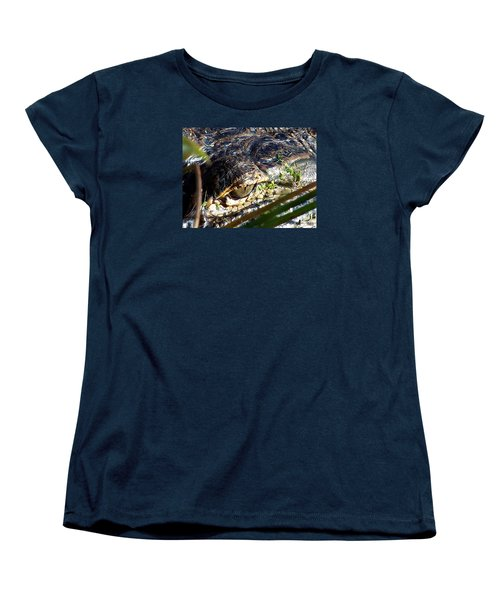 Alligator Eye  Women's T-Shirt (Standard Cut) by Chris Mercer
