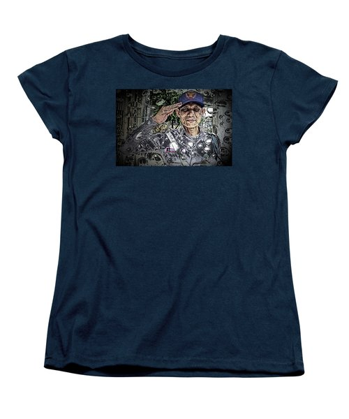 Bank Security Officer - On A Rainy Day Women's T-Shirt (Standard Cut) by Ian Gledhill