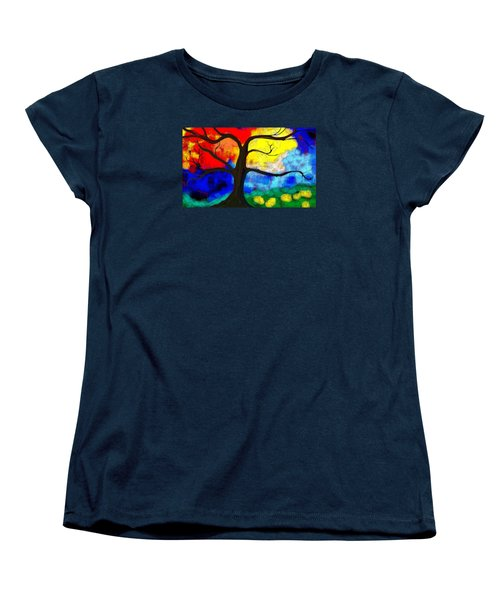 Women's T-Shirt (Standard Cut) featuring the painting  Before The Bloom by Patricia Arroyo
