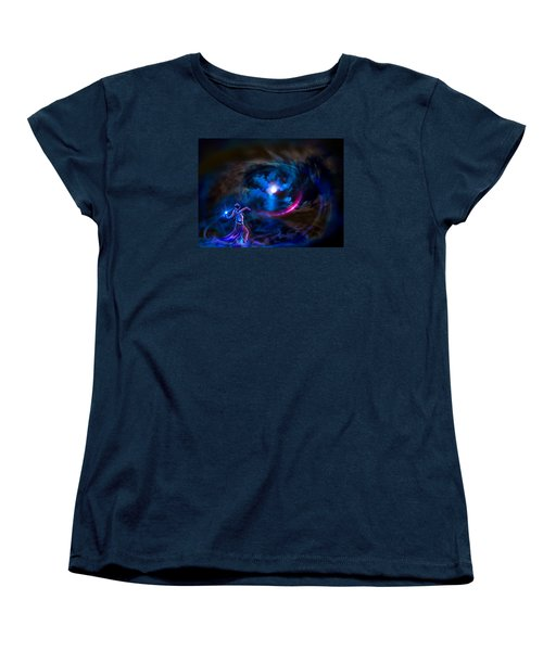 Women's T-Shirt (Standard Cut) featuring the photograph  Entrancing The Mystical Moon by Glenn C Feron