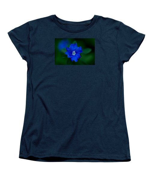 Women's T-Shirt (Standard Cut) featuring the photograph  Evolvulus Glomeratus Hawaiian Blue Eyes by Keith Hawley
