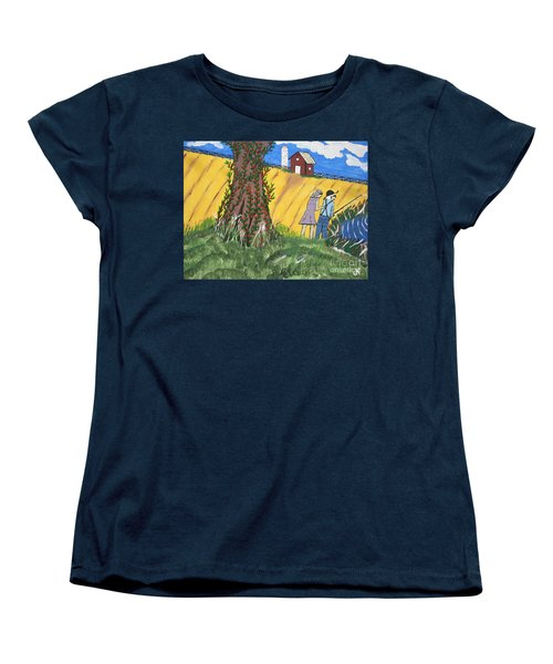 Women's T-Shirt (Standard Cut) featuring the painting  I Got A Big One. by Jeffrey Koss